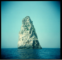 Big Rock (Squid Ink) Tags: holga greece paxos