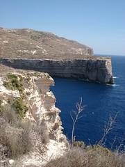 Staring at the sea (vleston) Tags: blue sea cliff face malta acantilado dingli