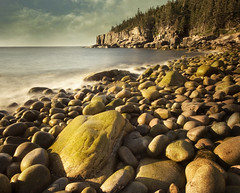 The sweet morning light (IrenaS) Tags: ocean longexposure sea nature landscape rocks maine shore ottercliffs acadianationalpark naturesfinest magicdonkey abigfave