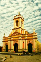 Iglesia de Tabio (P Lievano) Tags: blue light sky orange white tower art clock luz church monument statue architecture angel clouds digital photoshop canon religious town interesting construction arquitectura colombia 300d bell monumento religion edificio iglesia cielo nubes contraste p fotografia formas sombras lineas fotografa colombiano suramerica cundinamarca tabio elementos sentimientos religiosos intensidad colombianos americadelsur definido