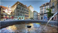 Hirschenplatz@Zurich (Toni_V) Tags: fountain topv111 reflections d50 switzerland zurich saturday zürich altstadt soe hdr 2007 hirschenplatz sigma1020mm photomatix 3exp toniv abigfave shieldofexcellence impressedbeauty 070929 ©toniv