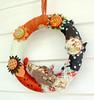 fabric rag wreaths RagHearth (15) (heatherknitz) Tags: wreath walldecor wallhanging feltflowers buttonflowers buttonwreath ragwreath fabricwreath decorativewreath doorwreaths fabricragwreath raghearth 10inchwreath