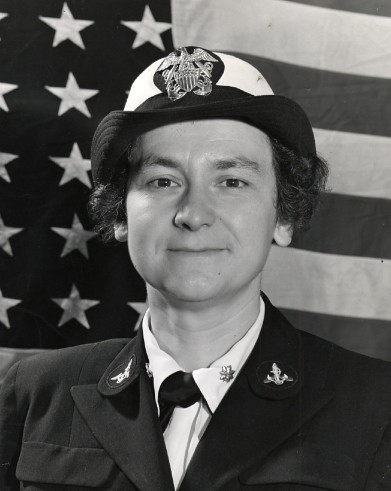 McAfee in her uniform for the Naval Reserve