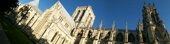 York Minster: Panorama (stuartpaterson) Tags: wood york city uk england sky detail tower yorkie rose stone architecture bronze religious king catholic arch christ cross cathedral roman unitedkingdom yorkshire religion tomb gothic style arches medieval norman christian queen constantine nave gb civic mister christianity yorkminster rood romanempire protestant emperor kingrichardiii placeofworship anglosaxon rosewindow reformation romanemperor constantinethegreat emperorconstantine kingedwardiii trancept yorkist waroftheroses neich normanminsterminster