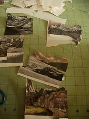 landscape dioramas (TheWayThingsWere) Tags: mountains art jar wax foundphoto papercut dioramas mustardfestival thewaythingswere mollybosley scherensnitte