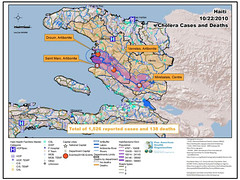 PAHO: Chlorea outbreak situation map