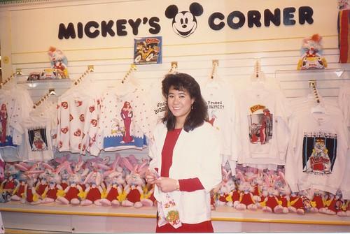 Olivia at Mickey's Corner