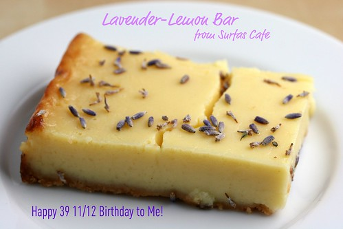 Lavender Lemon Bar from Surfas Cafe, Culver City, CA