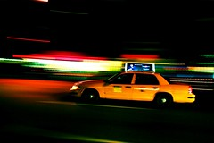 Time Machine (Dave G Kelly) Tags: street nyc ny motion blur car yellow manhattan cab taxi panning jonimitchell bigyellowtaxi 25faves aplusphoto davegkelly