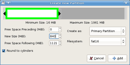 Preparing my USB drive for persistence - creating main partition
