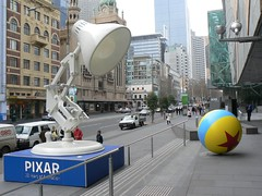 Pixar lamp and ball (Smithamax) Tags: lamp ball big melbourne pixar acmi