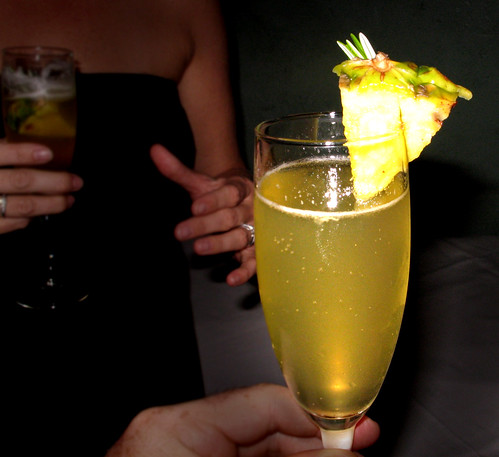 The Welcoming  Cocktail: Pineapple Champagne Cocktail