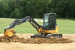 yellow construction equipment dirt backhoe bulldozer deere johndeere endloader