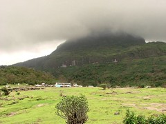 Clouds kissing the hills in Malshej Ghat (Mezzotint) Tags: ghat malshej