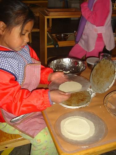 Making tortillas - practical life