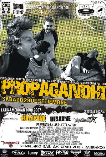 Afiche Propagandhi
