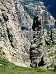 Départ du canyon de Nura sous Punta Muvrareccia