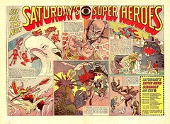 Saturday Morning Cartoons ad, 1967 (kerrytoonz) Tags: cartoon ad jonnyquest superman animation herculoids cbs mobydick saturdaymorning hannabarbera shazzan mightymightor supefriends