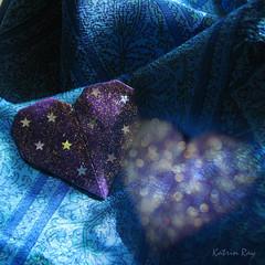 Romantic Blues (Katrin Ray) Tags: creativity origami heart artistic blues romantic bsquare happymondayblues happbluemonday katrinray