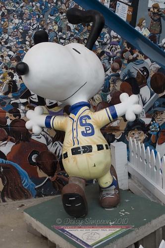 Snoopy as 1939 St Paul Saint