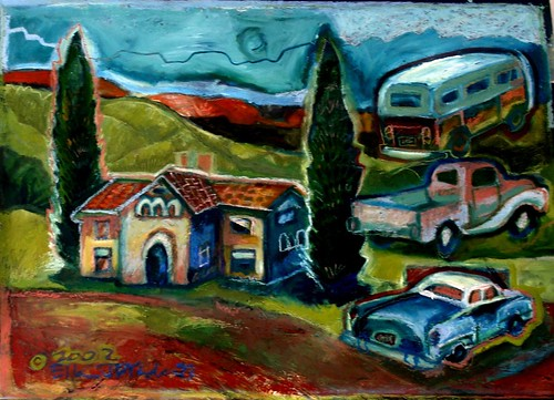 clark mansion painting, c. 2002