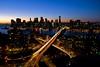 (Jane Kratochvil (Amazin' Jane)) Tags: city newyorkcity longexposure nightphotography sunset urban brooklyn night landscape lights manhattan dumbo brooklynheights financialdistrict queens 500v50f brooklynbridge eastriver expressway bqe