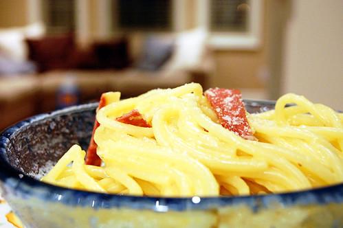 Vegetarian Spaghetti alla Carbonara