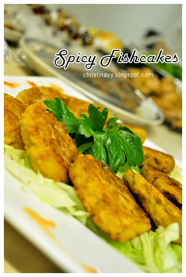 Shaine's Farewell Dinner: Spicy Fishcakes