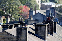 Holmfirth rooftops (NowPerfittofMarsden) Tags: roof chimney rooftops stack roofs slate chimneys holmfirth chimneypots chimneypot