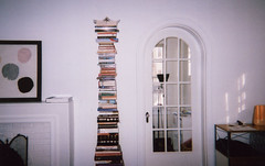 (katya mamadjanian) Tags: white film modern reading furniture interior books bookshelf minimal clean fujifilm simple decor disposable