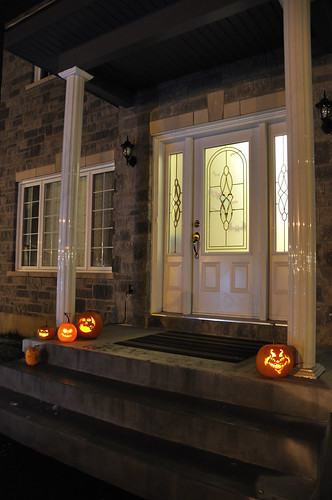 Our front porch at Halloween