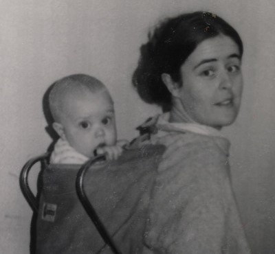 The infant Léan in 1975, with my youthful mother