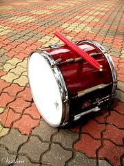 Drumming away