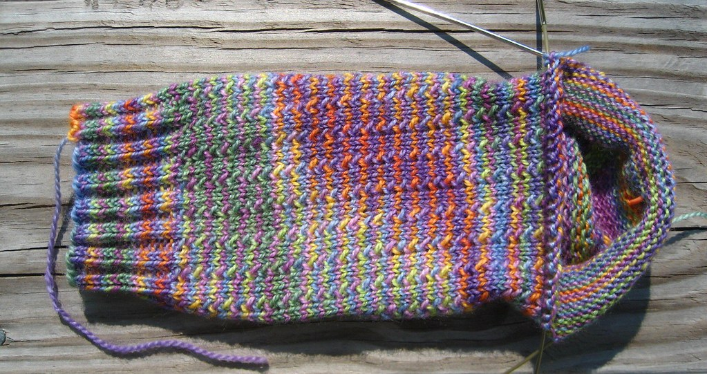 Charade Sock One, at the heel gusset