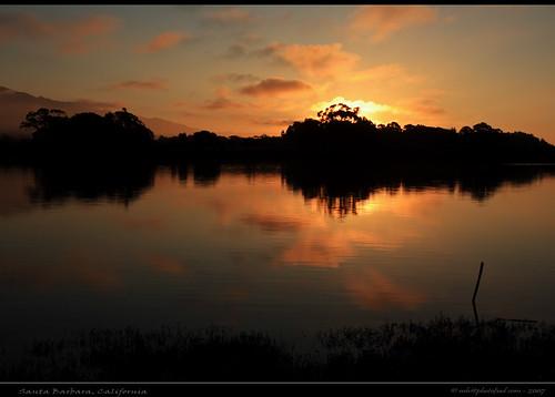 Santa Barbara Devereux Creek Sunset