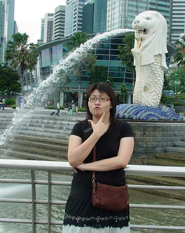Suanie at teh Merlion