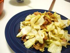 培根炒高麗菜