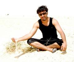 Samer in summer (aZ-Saudi) Tags: summer portrait beach sand desert arabic saudi arabia ksa samer  alhasa       arabin  arabs