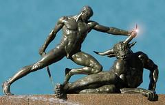 Beauty and the beast (spike's love slave) Tags: sculpture statue bronze archibaldfountain labyrinth greekmythology malenude minotaur maleform theseus malebody francoissicard theseusandtheminotaur