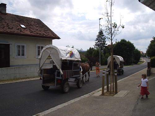 Wagons in Jura Switzerland Suisse