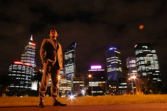 unchained (maybemaq) Tags: light portrait urban building night skyscraper work myself australia suit perth nightwalk theesplanade supershot maybemaq