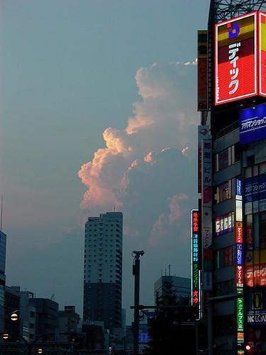Shinjuku sunset cloud