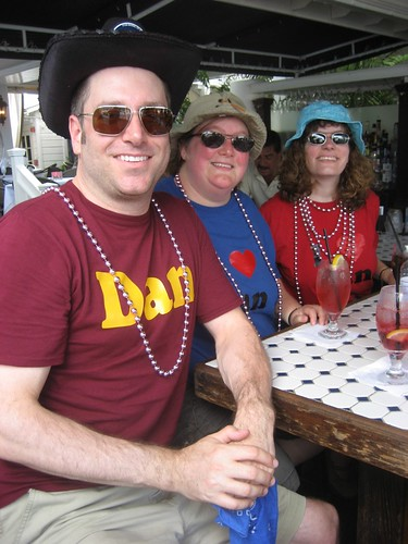 Dan, Me, Stephanie at La Te Da's in Key West