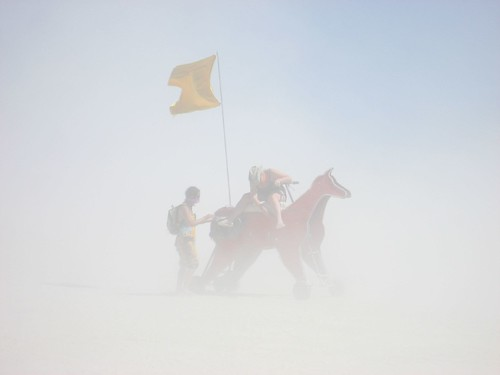 Horse in a Dust Storm