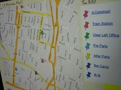 Printed Google map