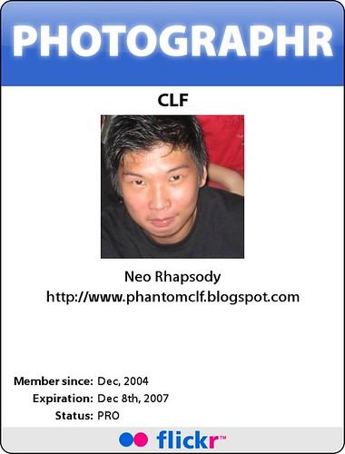 Flickr ID card