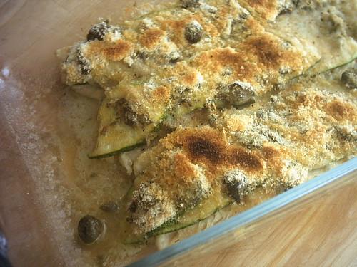 gustosamente: merluzzo in crosta di zucchine e capperi - Cucinare Filetto Di Merluzzo