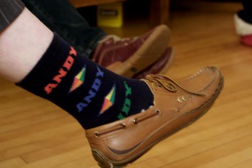 Andy got socks