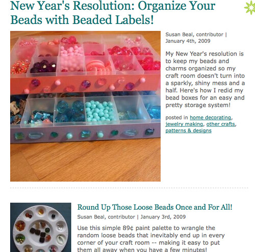 My New Year's resolution posts on CraftStylish