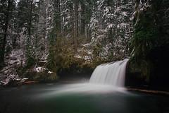 Upper Butte Creek falls, winter (Matt Abinante) Tags: longexposure winter snow oregon portland waterfall northwest near pacificnorthwest 30secondexposure ndfilter buttecreek buttecreekfalls upperbuttecreekfalls mattabinante aaroncourter huckinhugecom lotsofwaterflowingthistime chriskorbulic